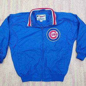 Chicago Cubs Majestic Managers Coat Jacket Boys M